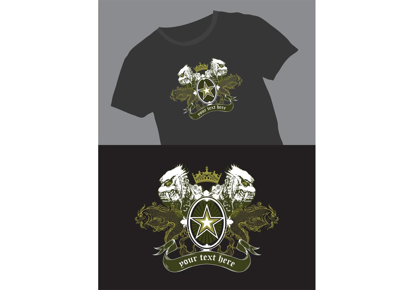 Free vector t shirt graphics for Vector art for t shirts
