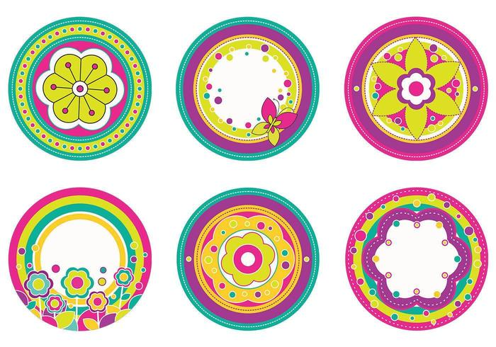 Floral Tags Vector Pack