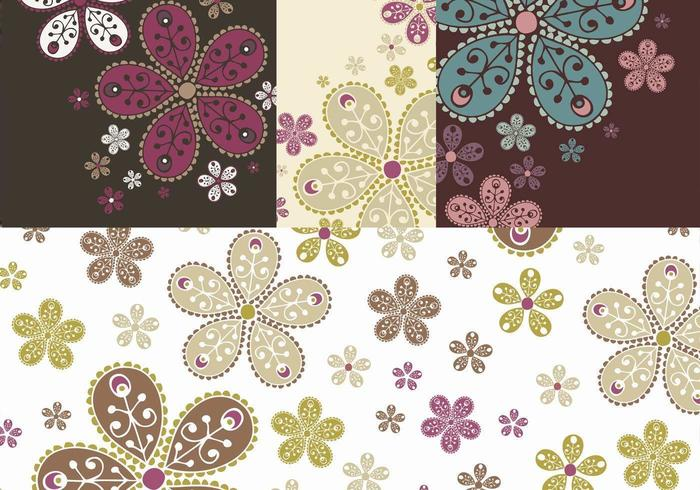 Decorated Floral Banner Vector Pack