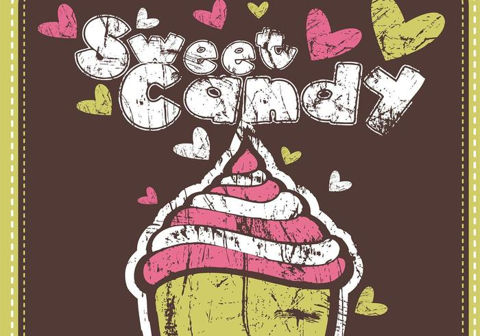 Pacchetto carta da parati Grungy Sweet Candy Vector