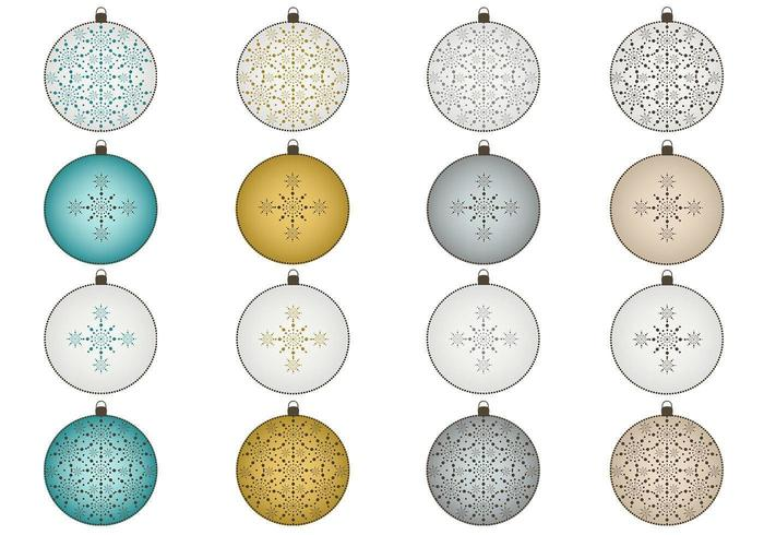 Snowflake Christmas Ornament Vector Pack