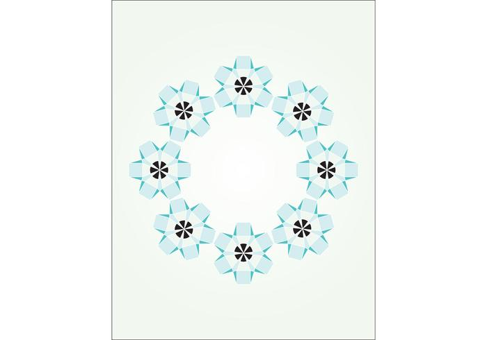 Free Abstract Flower Circle Vector