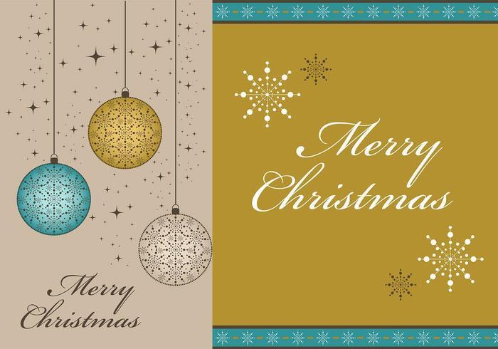 Merry Christmas Vector Wallpaper en Border Pack