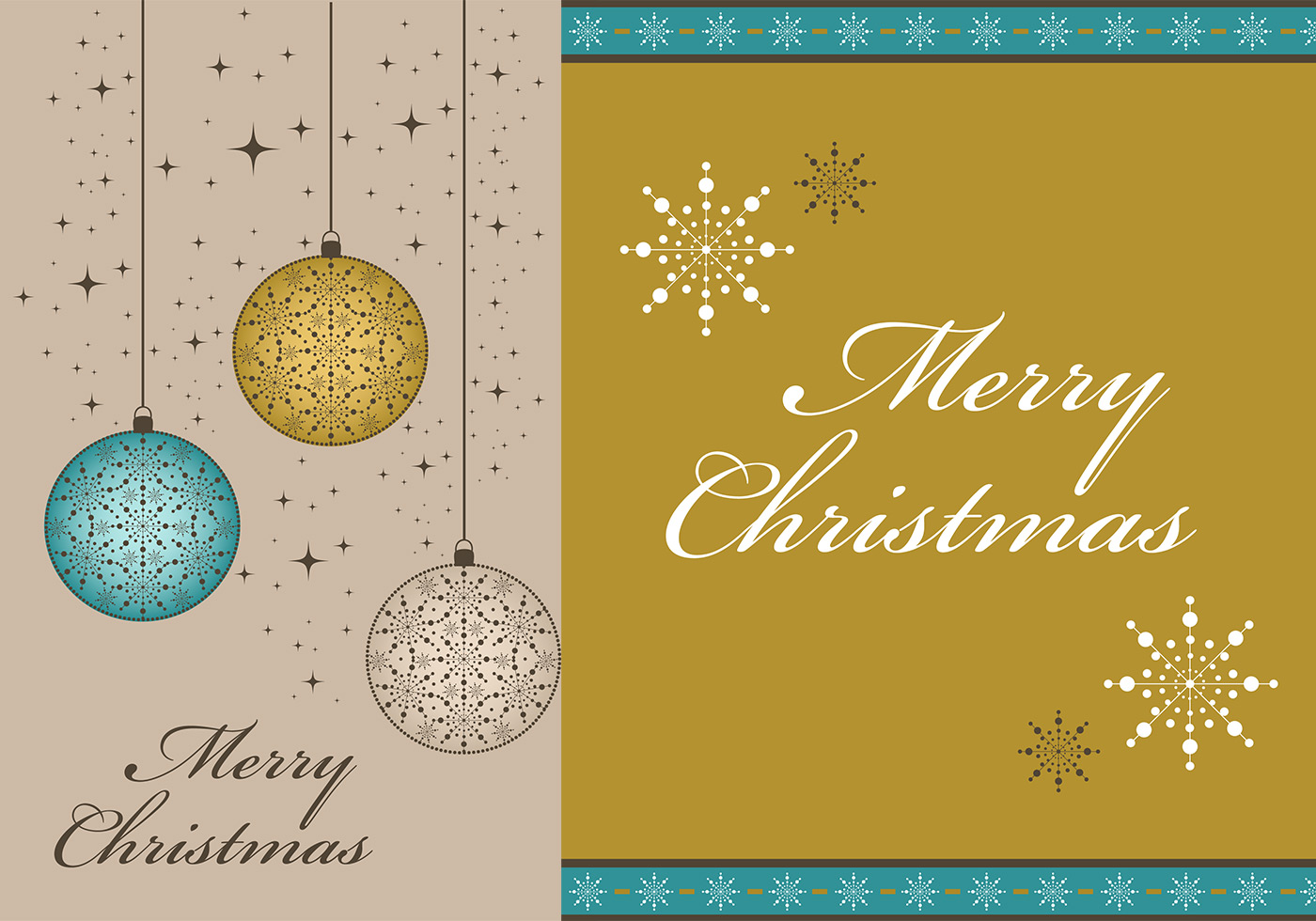 merry christmas vector wallpaper and border pack - download free