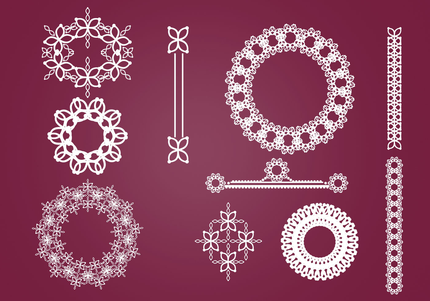Wreaths Borders And Ornaments Vector Pack Download