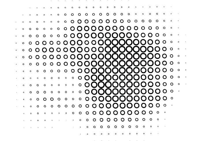 Line Art Vs Halftone : Halftone circle line free vector art illustration