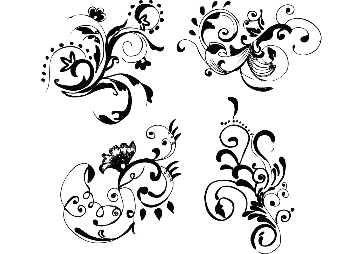 Art Design On Line : Hand drawn floral free vector images download