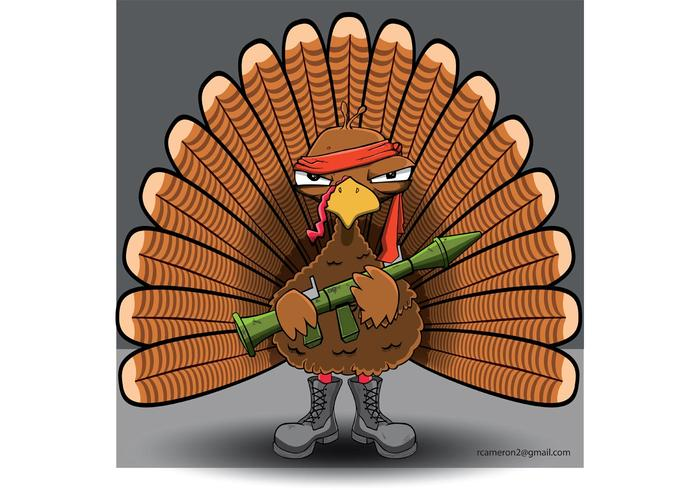 Rambo Turkey Vector