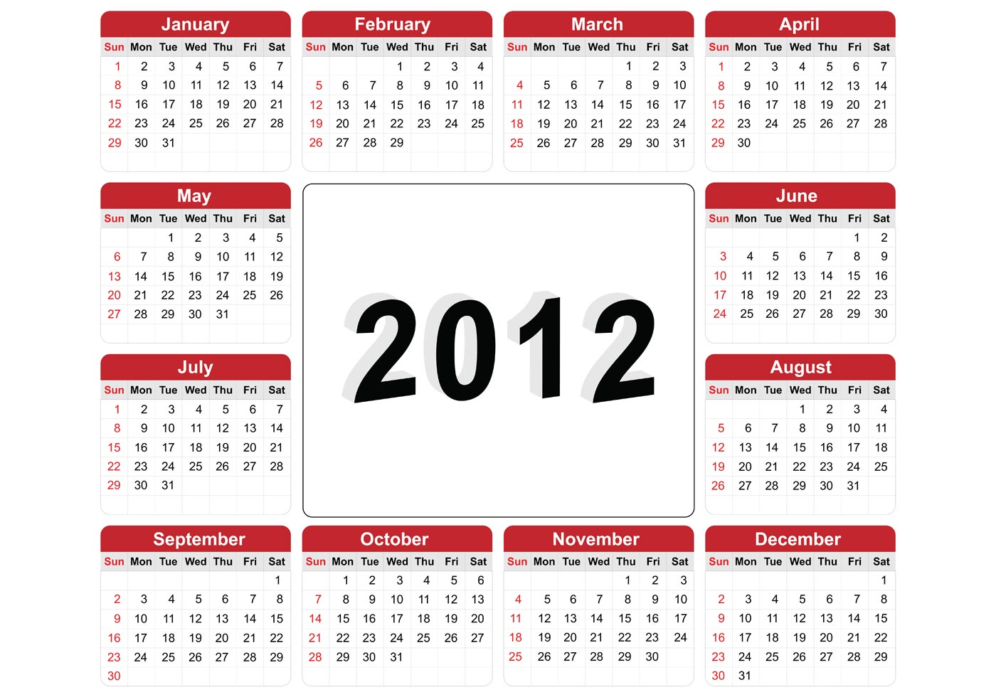 Calendar Illustration Vector : Free vector illustration of calendar download