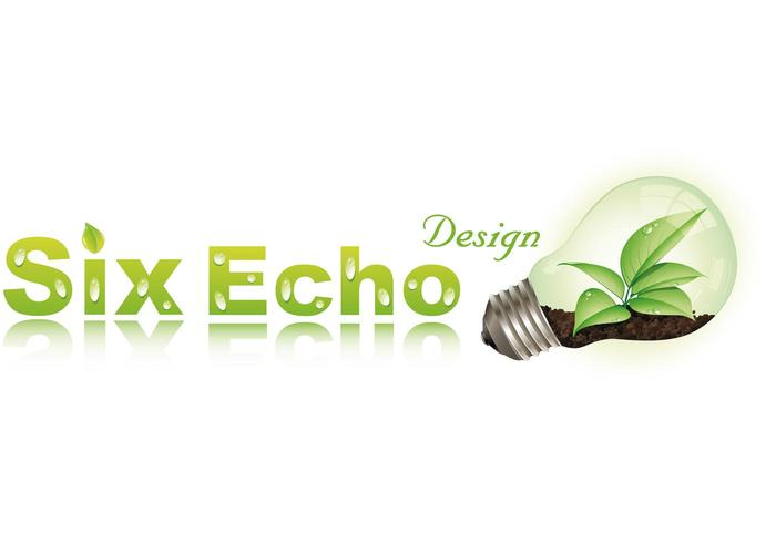 Logo Six Echo Design Vector