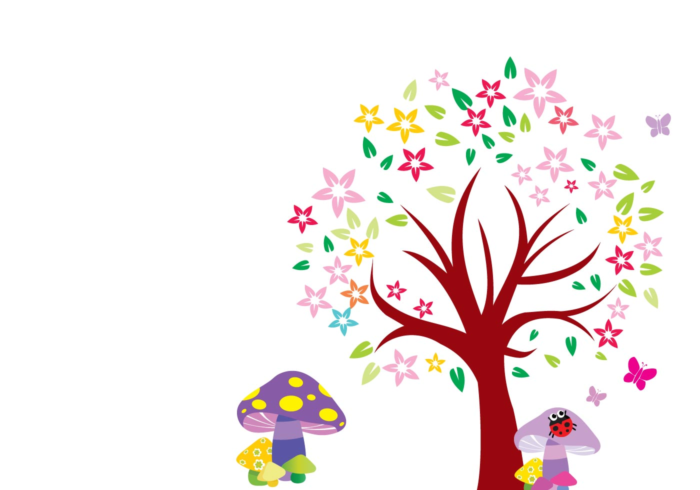 free arbol blooming tree vector