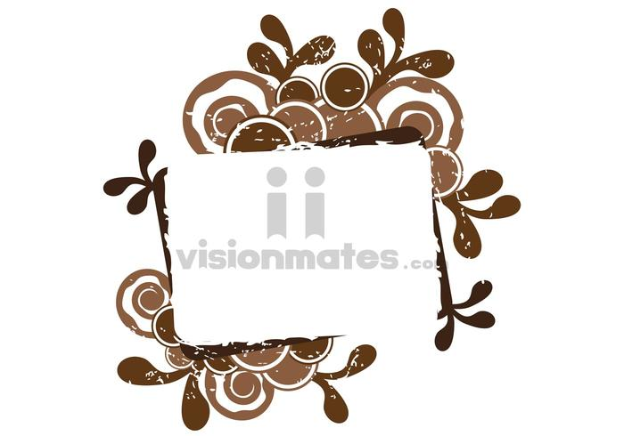 Brown Grunge Banner Vector