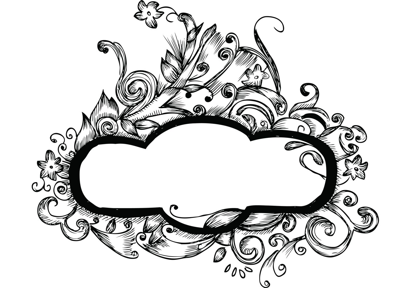 Hand drawn floral frames free vector designs download for Frame designs
