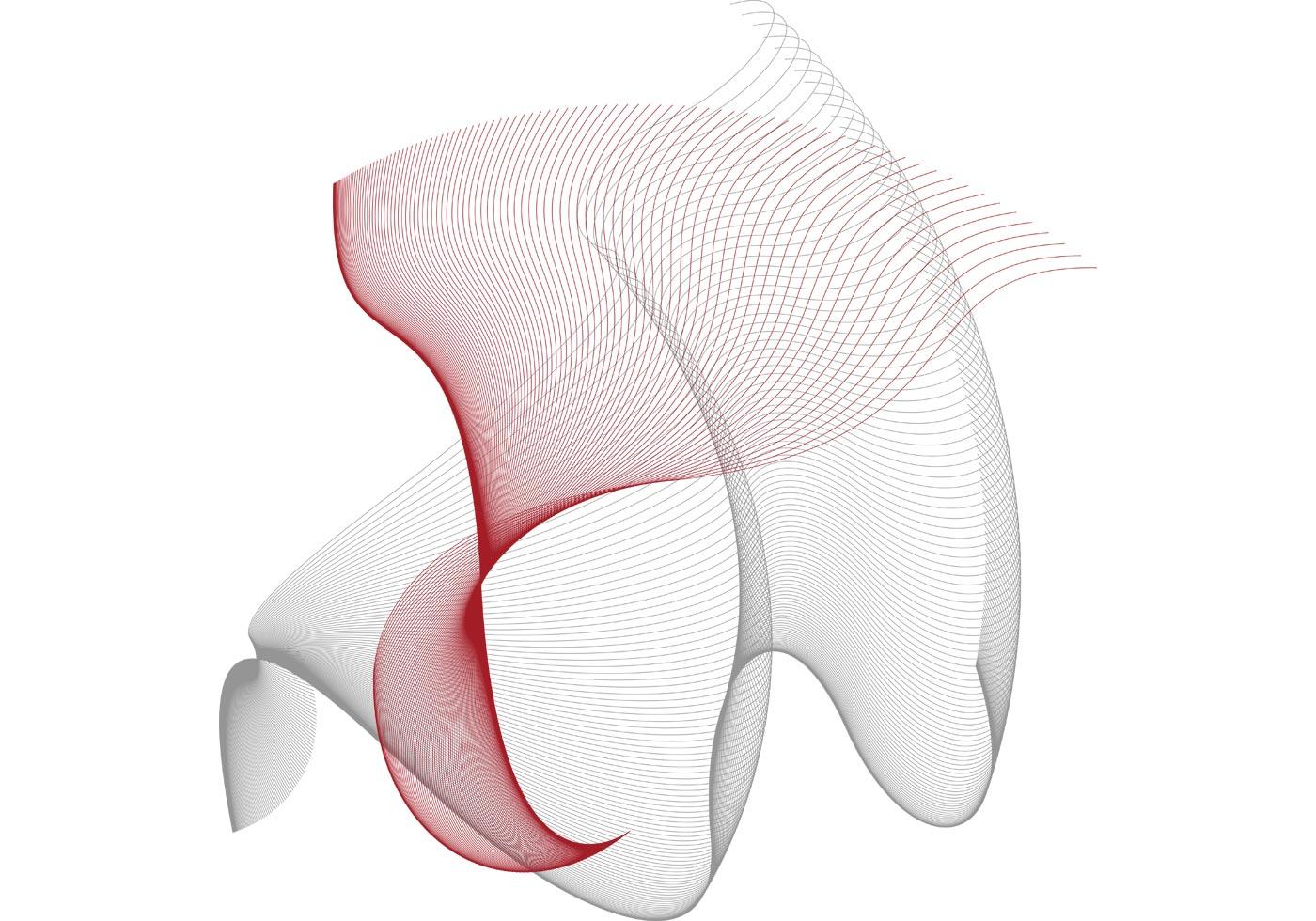Line Art Design Free Download : Flowing curves free vector designs download