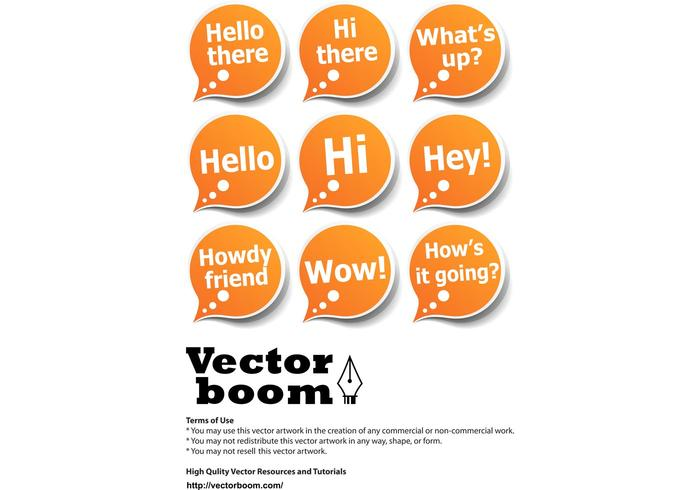 Vector Pack – Greeting Bubble Stickers