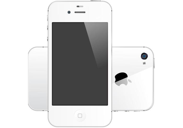 iPhone 4S white free vector