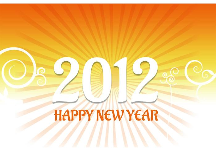 2012 New Year Card Vector