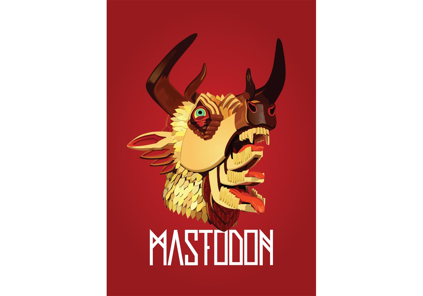 Free Mastodon - the hunter Vector