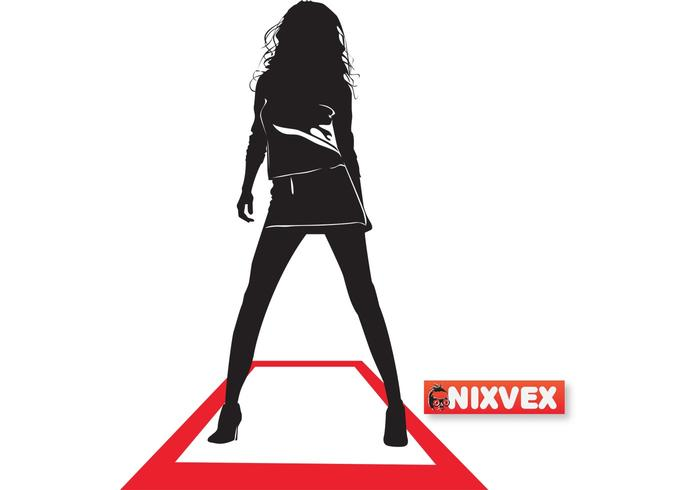 NixVex Runway Girl Free Vector