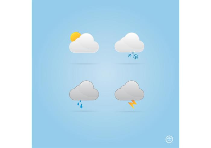 Cloud Weather Icons Vectors
