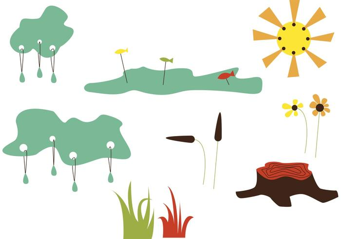 The mountain lake - vector clipart