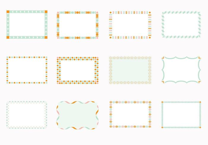 Funky Square Frames Vectors