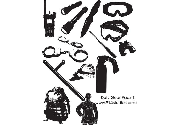 Gear Vector Police Duty Gear Pack #1