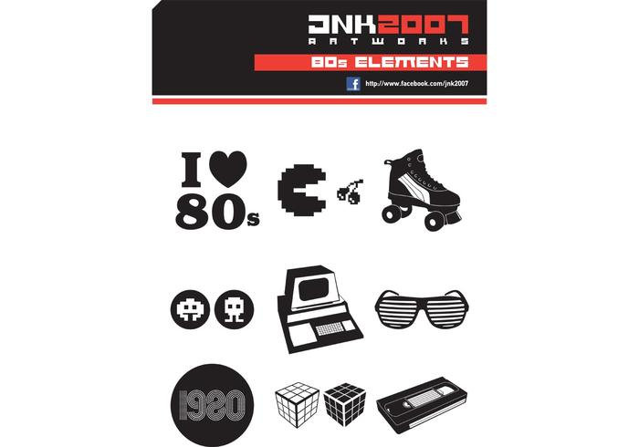 Retro Vector 80's Elements