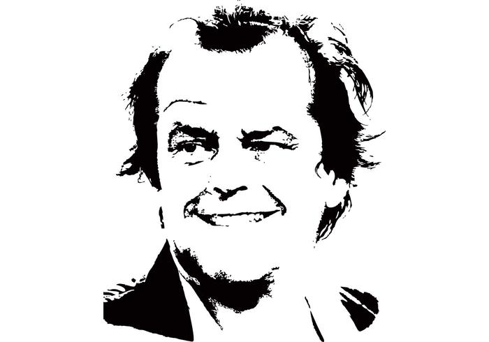 Celebrity Vector - Jack Nicholson Vector