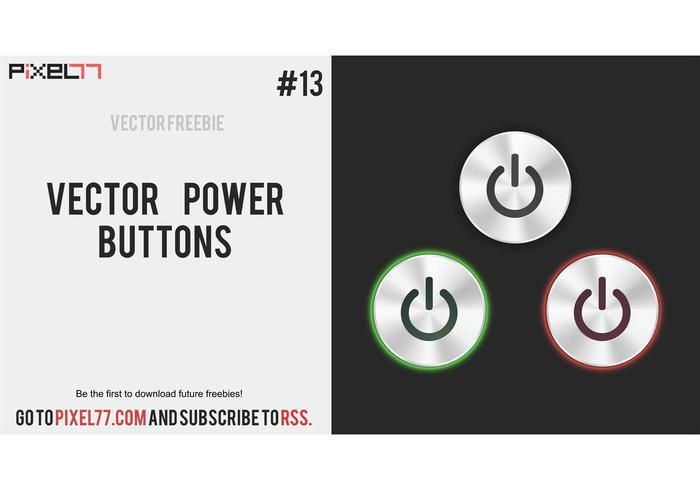 Free vector power button