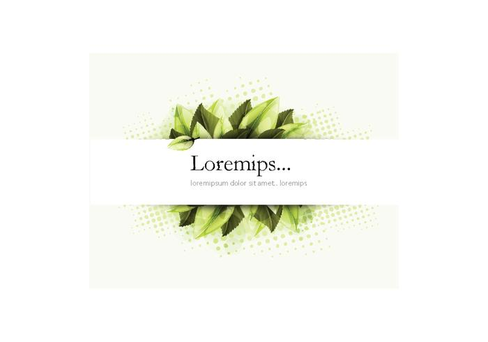Banner Vector with Greenery