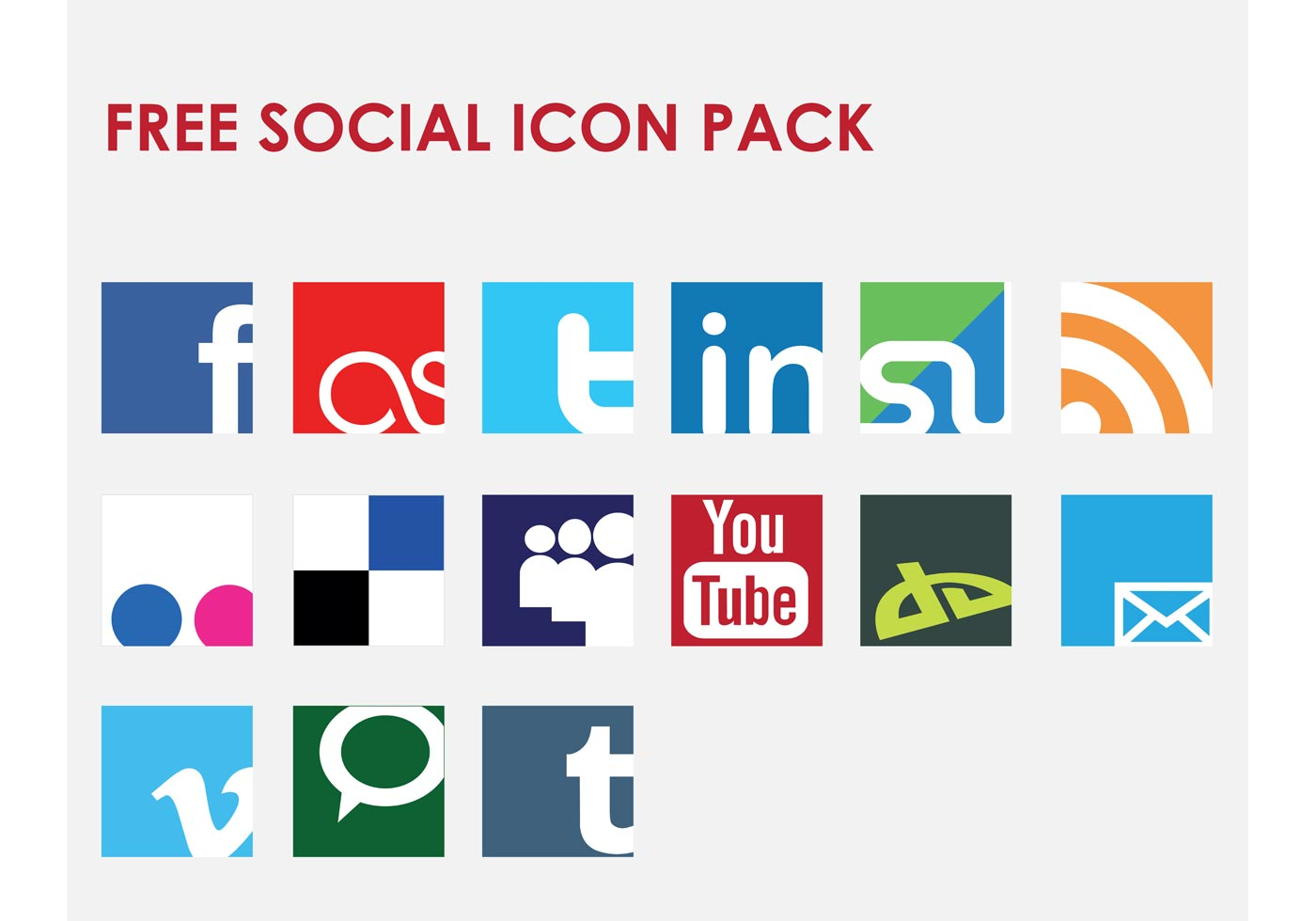 Icon Vector Social Network Set