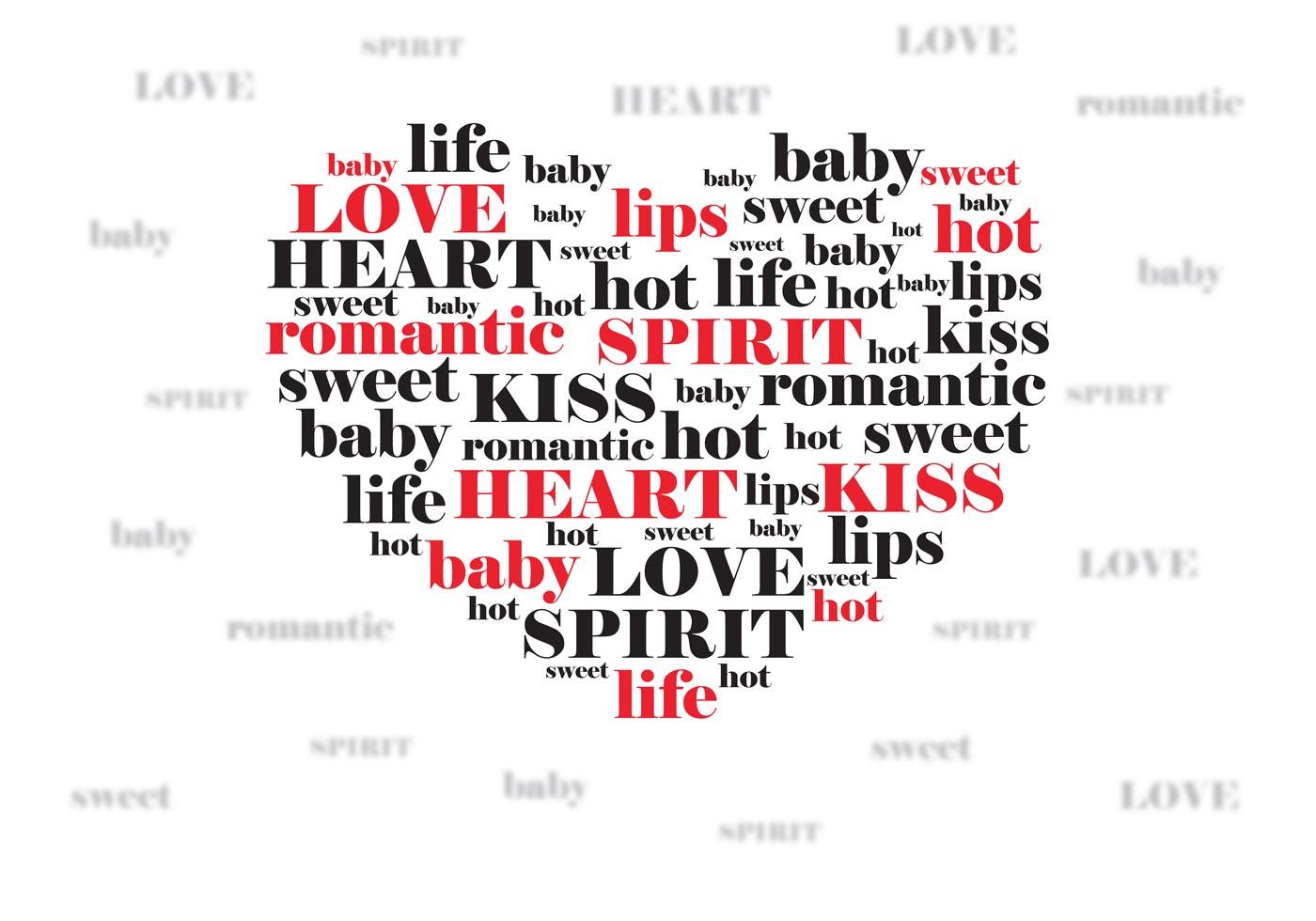 Quote Bubble Cute Valentine love express...