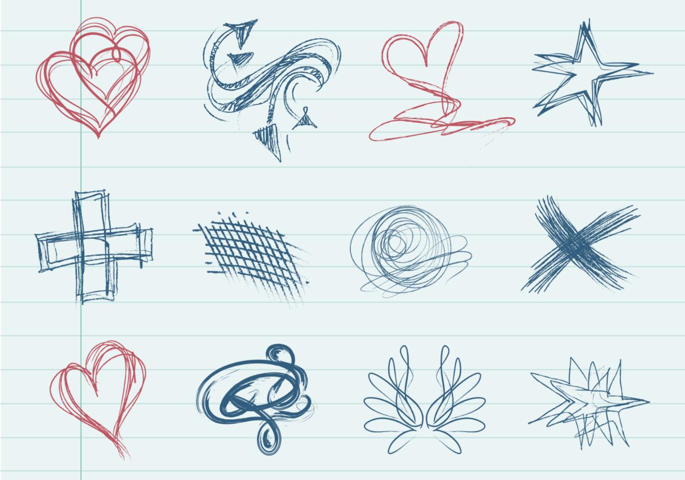 Doodle Forma Vector Pack - Descargue Gráficos y Vectores Gratis