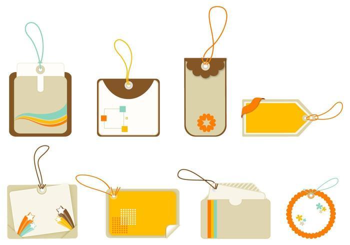 Rétro étiquette vectorielle et étiquette Pack