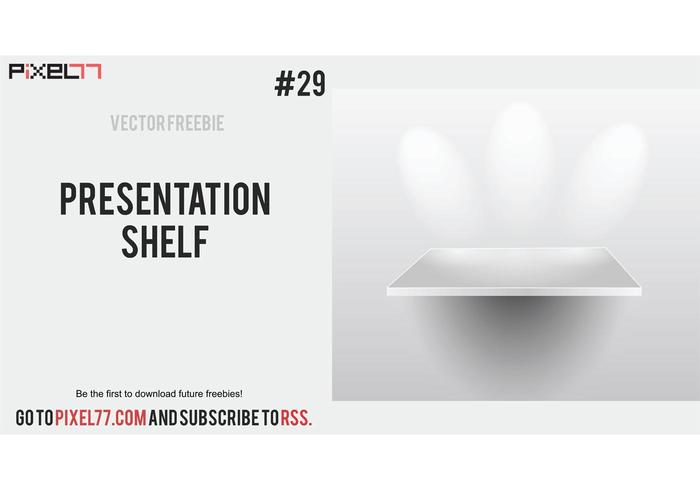 Presentation shelf