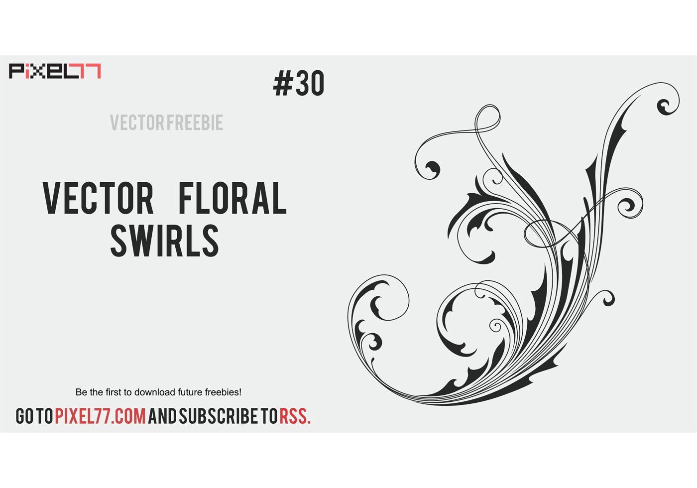 Free vector floral swirls