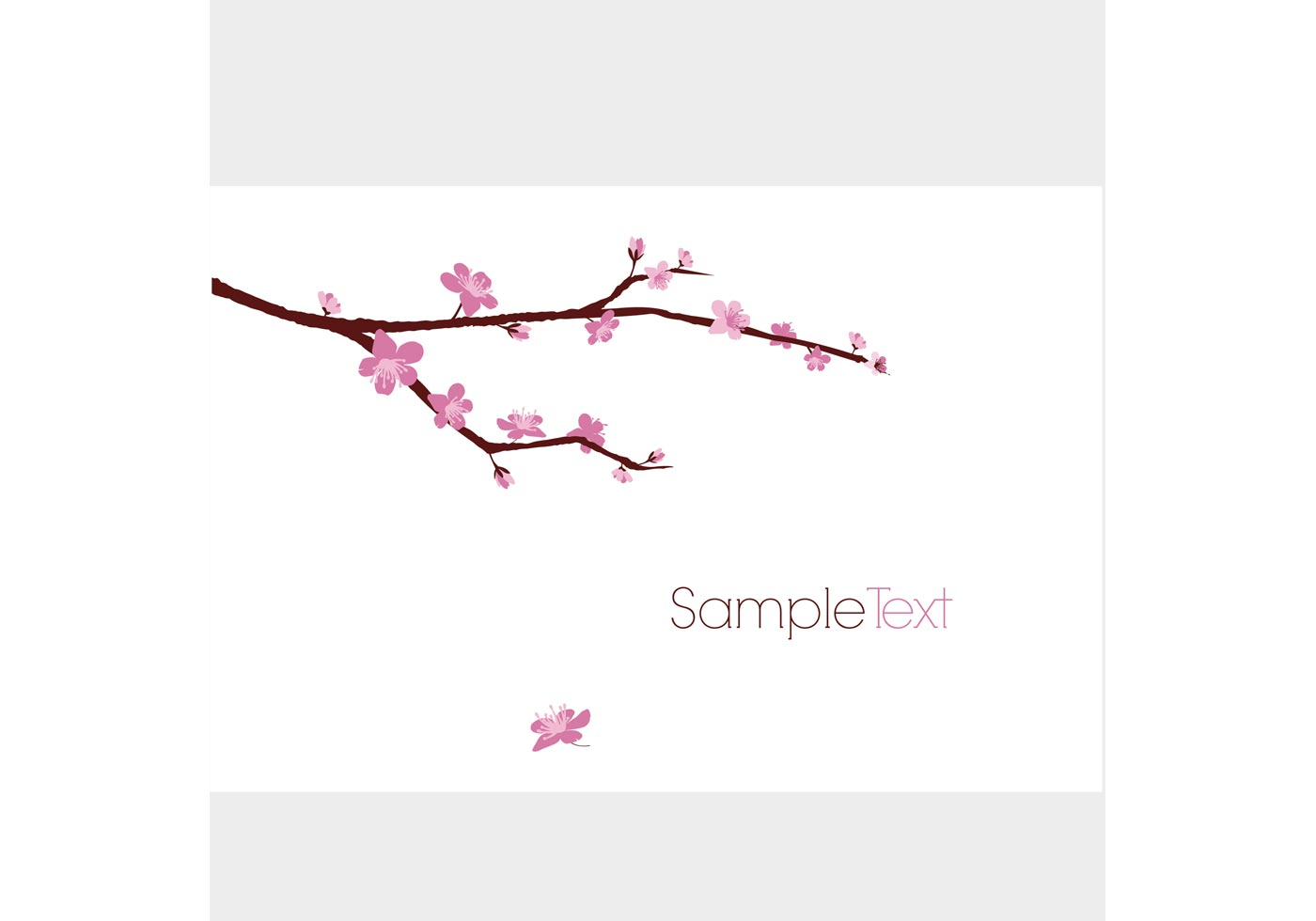 Blossomed Cherry Tree Branch Download Free Vector Art