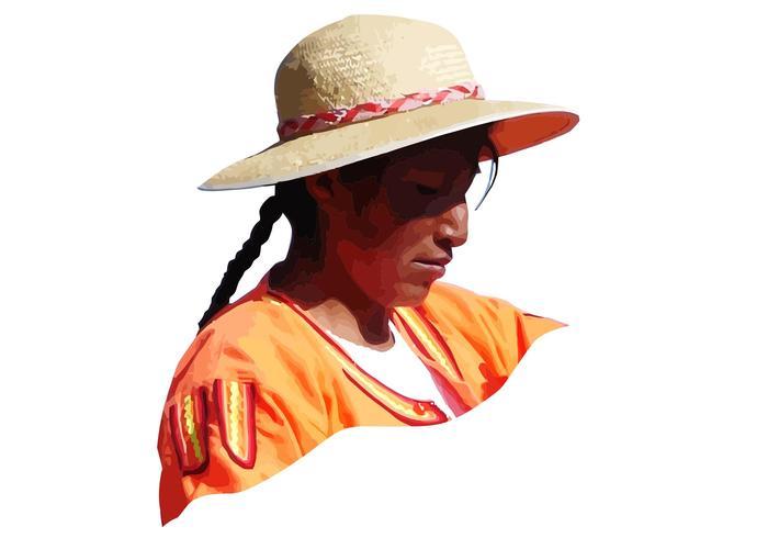 Peru Woman Vector