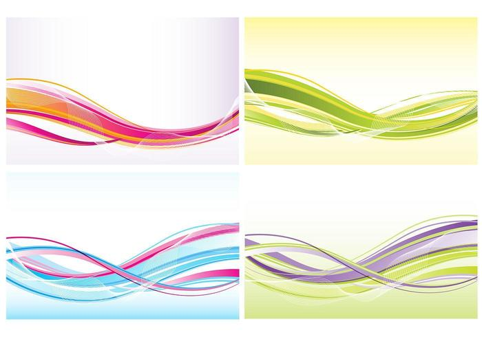 Abstract Waves Background Vector Pack