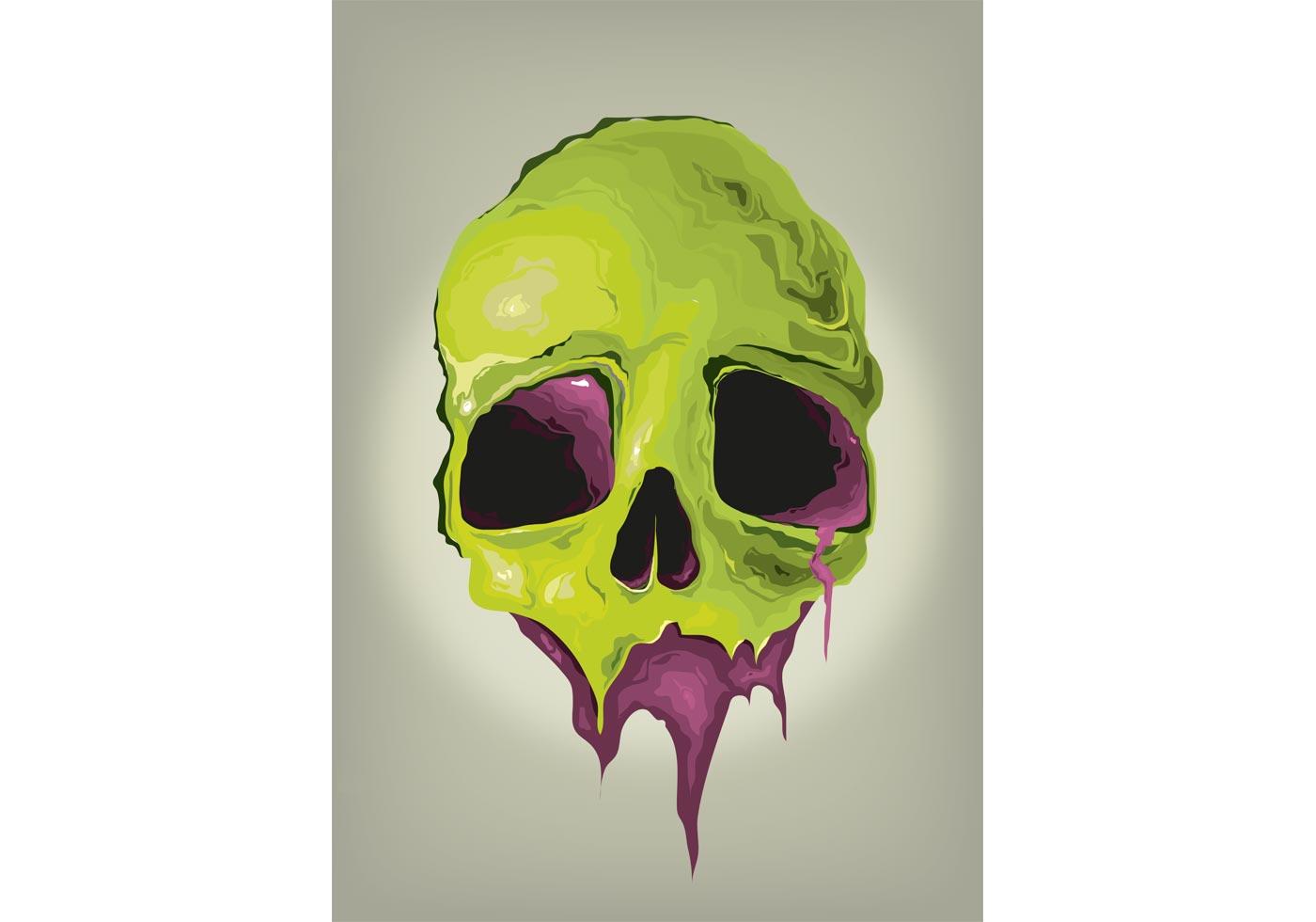 liquid skull vector