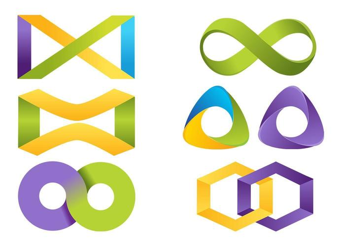 Infinity icon vector pack