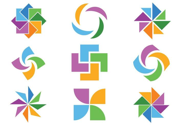 Colorful Abstract Icon Vector Pack