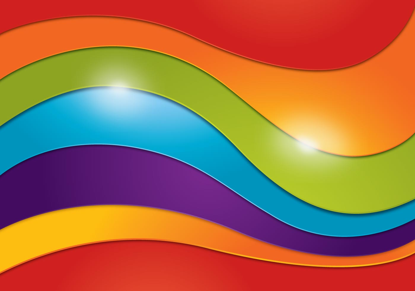 wavy rainbow background download free vector art stock