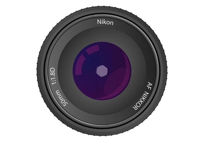 Lens Vector Nikon AF NIKKOR 50mm f/1.8D