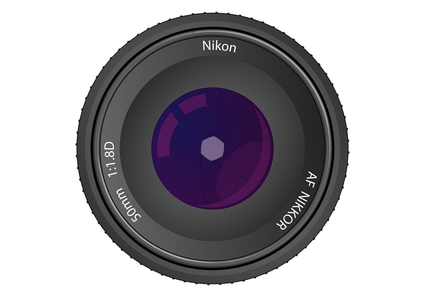 lens vector nikon af nikkor 50mm f  1 8d White Banners Vector Free Download vintage ribbon banner vector free download