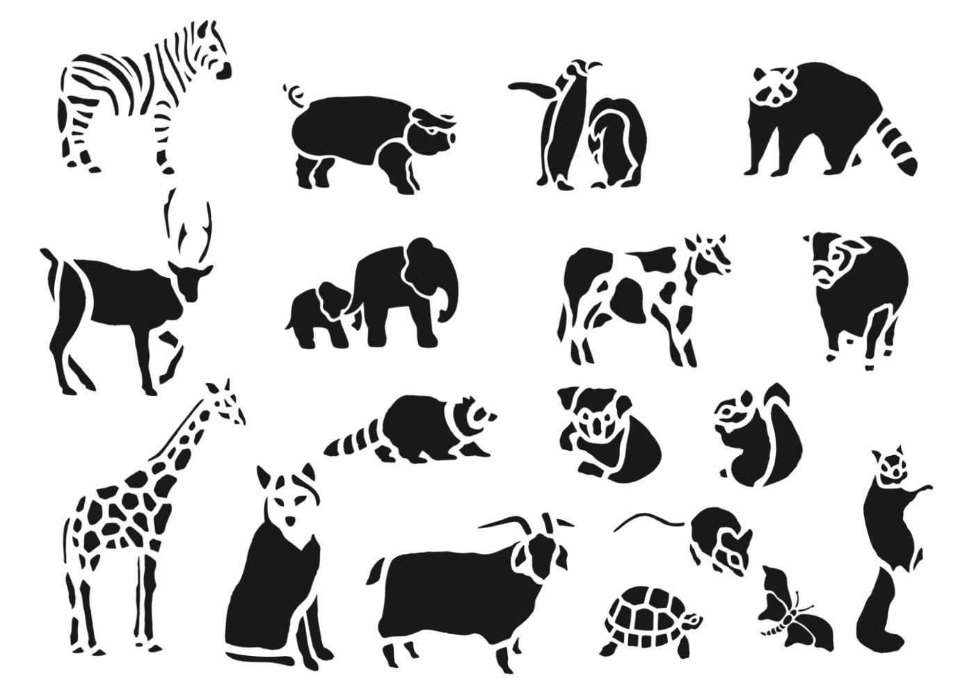 Zoo Animal Vector Pack Download Free Vectors Clipart
