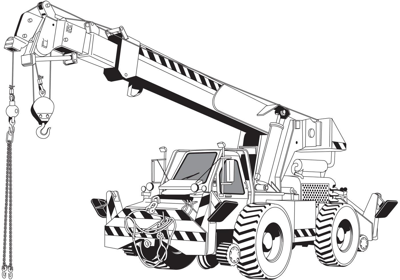 Rough Terrain Crane Application : Free vector crane vecteezy