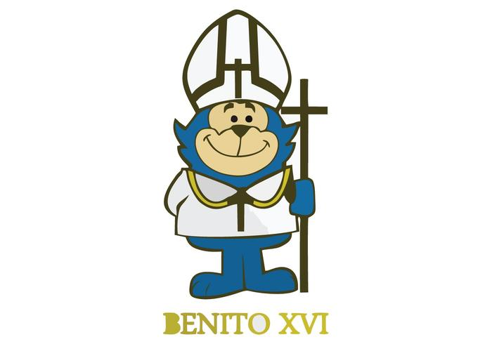 Benito xvi Cartoon Vector