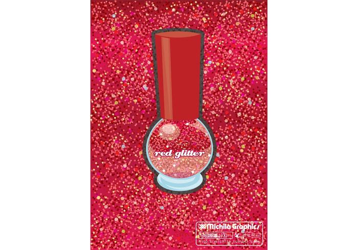 Red Glitter Vector Background